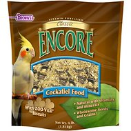 Brown's Encore Classic Natural Cockatiel Bird Food, 4-lb bag