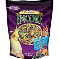 Brown's Encore Premium Cockatiel Bird Food, 5-lb bag