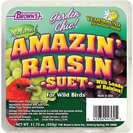 Brown's Garden Chic! Amazin' Raisin Suet Wild Bird Food, 11.75-oz tray