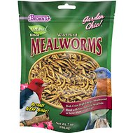 Brown's Garden Chic! Dried Mealworms for Wild Birds, 7-oz bag