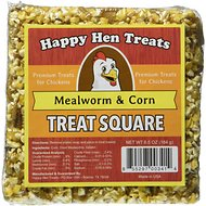 Happy Hen Treats Mealworm & Corn Treat Square for Chickens, 6.5-oz bar