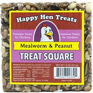 Happy Hen Treats Mealworm & Peanut Treat Square for Chickens, 7.5-oz bar