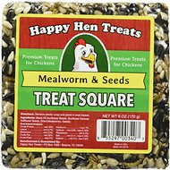 Happy Hen Treats Mealworm & Seeds Treat Square for Chickens, 6-oz bar
