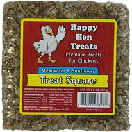 Happy Hen Treats Mealworm & Sunflower Treat Square for Chickens, 5.5-oz bar