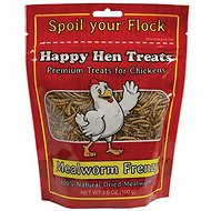 Happy Hen Treats Mealworm Frenzy Treats for Chickens, 3.5-oz bag