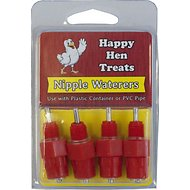 Happy Hen Treats Nipple Waterers for Chickens, 4-pack