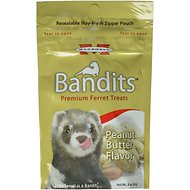 Marshall Bandits Premium Peanut Butter Flavor Ferret Treats, 3-oz bag