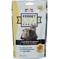 Marshall Lax Hairball Support Bacon Flavor Ferret Soft Chews, 3-oz bag