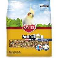 Kaytee Egg-Cite! Forti-Diet Pro Health Cockatiel Bird Food, 5-lb bag