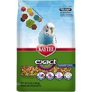 Kaytee Exact Fusion Parakeet Bird Food, 3-lb bag