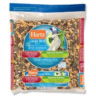 Hartz Bird Diet for Amazons, African Greys & Cockatoos Large Bird Food, 4-lb bag