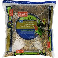 Hartz Bird Diet for Cockatiels, Lovebirds & Small Conures Bird Food, 5-lb bag