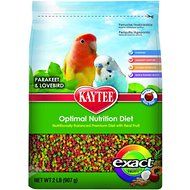 Kaytee Exact Rainbow Fruity Parakeet & Lovebird Bird Food, 2-lb bag