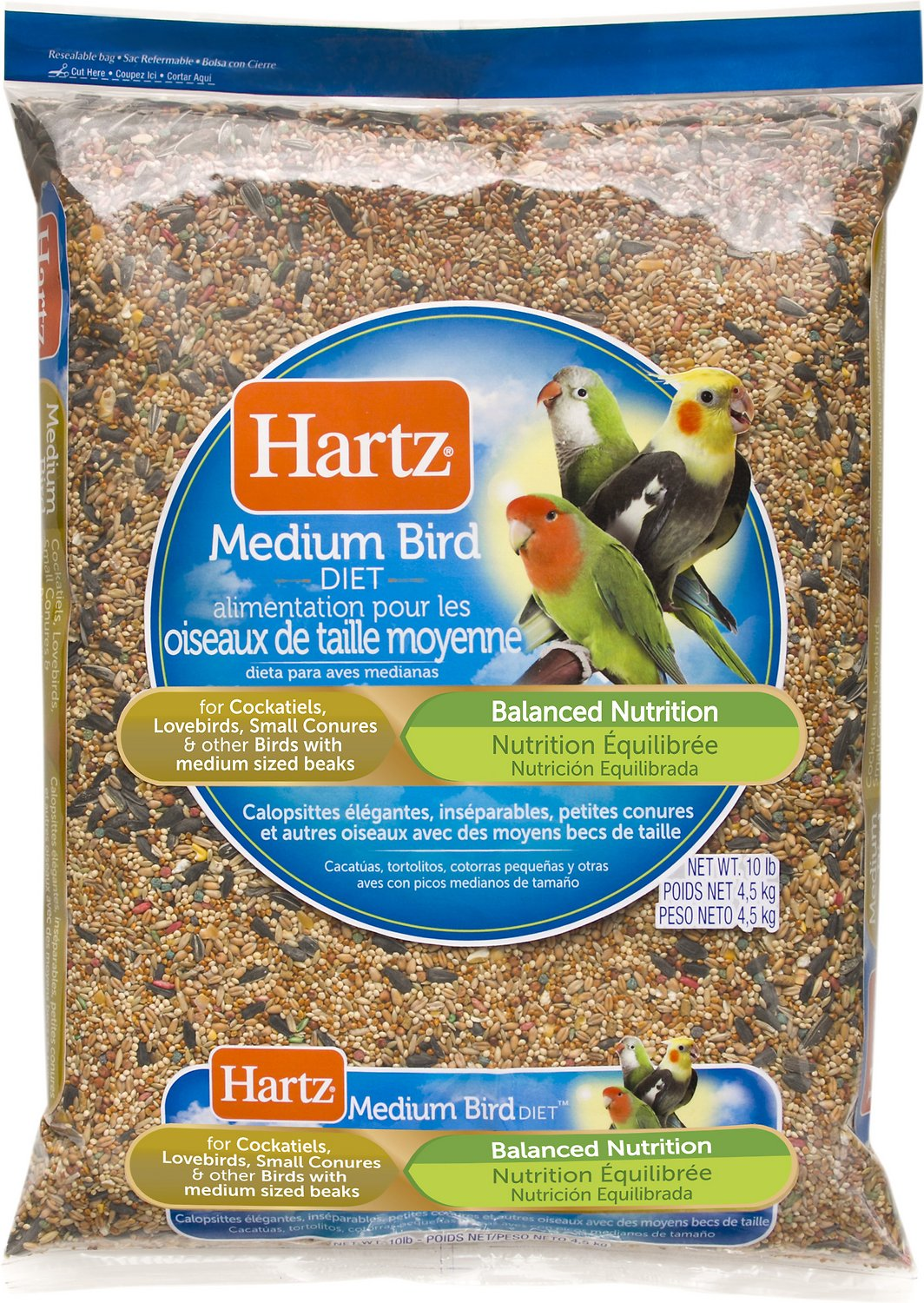 Hartz bird diet for cockatiels lovebirds small conures bird food roll over image to zoom in forumfinder Choice Image