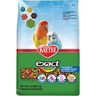 Kaytee Exact Rainbow Parakeet & Lovebird Bird Food, 2-lb bag