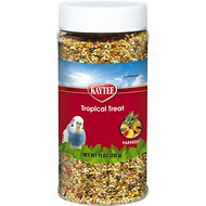 Kaytee Fiesta Tropical Fruit Parakeet Bird Treats, 11-oz jar