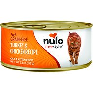 Nulo Freestyle Turkey & Chicken Recipe Grain-Free Canned Cat & Kitten Food, 5.5-oz, case of 24