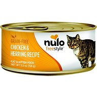 Nulo Freestyle Chicken & Herring Recipe Grain-Free Canned Cat & Kitten Food, 5.5-oz, case of 24