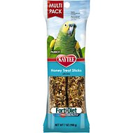 Kaytee Forti-Diet Pro Health Honey Parrot Treat Sticks, 2-count