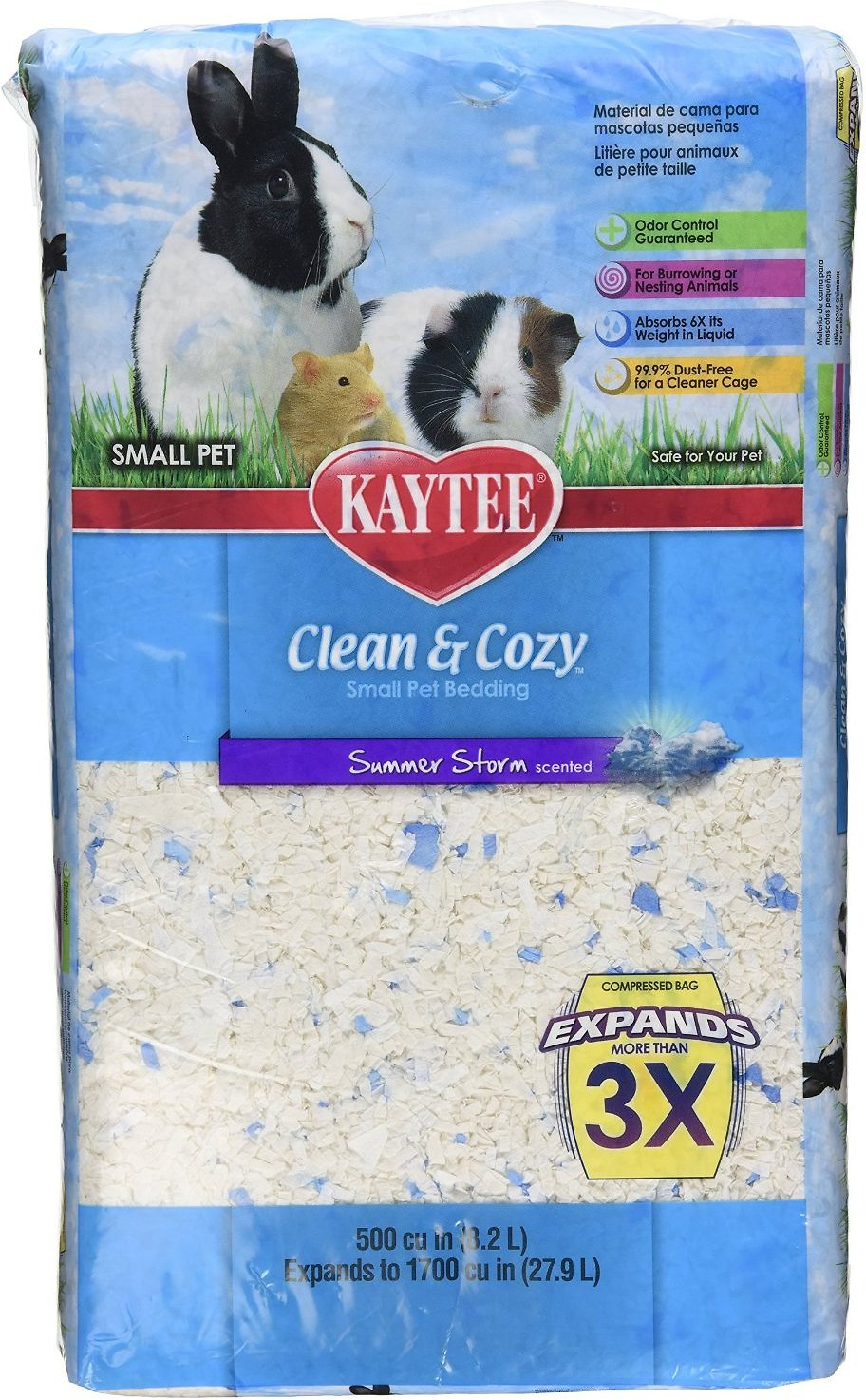 kaytee clean & cozy scented small animal bedding, summer storm