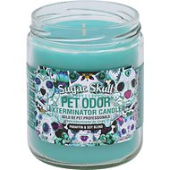 Pet Odor Exterminator Sugar Skull Deodorizing Candle, 13-oz jar