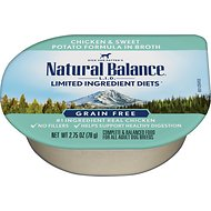 Natural Balance L.I.D. Limited Ingredient Diets Chicken & Sweet Potato Formula Shreds Grain-Free Wet Dog Food, 2.75-oz, case of 24