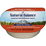 Natural Balance L.I.D. Limited Ingredient Diets White Fish & Sweet Potato Formula Flaked Grain-Free Wet Dog Food, 2.75-oz, case of 24
