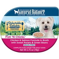 Natural Balance Delectable Delights Fish 'N Chicks Grain-Free Wet Dog Food, 2.75-oz, case of 24