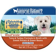 Natural Balance Delectable Delights Woof'erole Grain-Free Wet Dog Food, 2.75-oz, case of 24