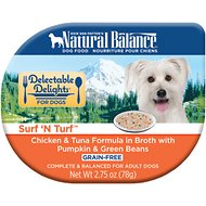 Natural Balance Delectable Delights Surf 'N Turf Grain-Free Wet Dog Food, 2.75-oz, case of 24