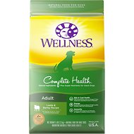 Wellness Complete Health Adult Lamb & Barley Recipe Dry Dog Food, 5-lb bag