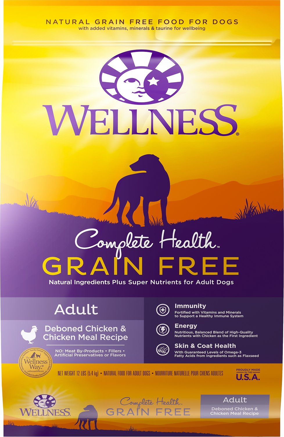 Wellness Grain Free Complete Health Adult Deboned Chicken