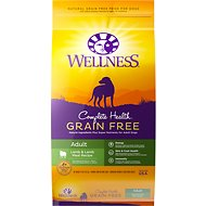 Wellness Grain-Free Complete Health Adult Lamb & Lamb Meal Recipe Dry Dog Food, 24-lb bag