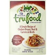 Wellness TruFood Chicken Breast, Beef & Carrots in Broth Grain-Free Dog Food Topper, 2.8-oz, case of 24