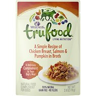 Wellness TruFood Chicken Breast, Salmon & Pumpkin in Broth Grain-Free Dog Food Topper, 2.8-oz, case of 24