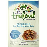 Wellness TruFood Tuna, Beef & Carrots in Broth Grain-Free Dog Food Topper, 2.8-oz, case of 24