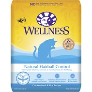 Wellness Natural Hairball Control Chicken Meal & Rice Recipe Dry Cat Food, 11.5-lb bag