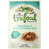 Wellness TruFood Flaked Tuna & Shrimp in Broth Grain-Free Cat Food Topper, 1.75-oz, case of 24
