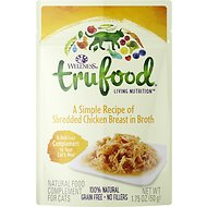 Wellness TruFood Shredded Chicken Breast in Broth Grain-Free Cat Food Topper, 1.75-oz, case of 24