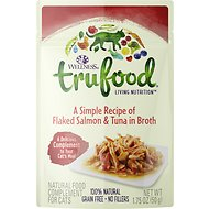 Wellness TruFood Flaked Salmon & Tuna in Broth Grain-Free Cat Food Topper, 1.75-oz, case of 24