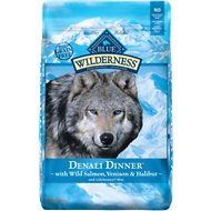 Blue Buffalo Wilderness Denali Dinner with Wild Salmon, Venison & Halibut Grain-Free Dry Dog Food, 22-lb bag