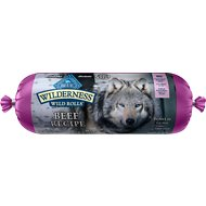 Blue Buffalo Wilderness Wild Rolls Beef Recipe Grain-Free Dog Food Roll, 2.25-lb