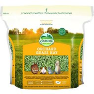 Oxbow Orchard Grass Hay Small Animal Food, 40-oz bag