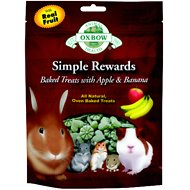 Oxbow Simple Rewards Oven Baked with Apple & Banana Small Animal Treats, 2-oz bag