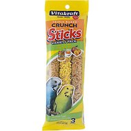 Vitakraft Variety Pack Triple Baked Crunch Sticks with Honey, Egg, & Fruit Parakeet Treats, 3-count