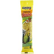 Vitakraft Triple Baked Sticks with Egg & Honey Parakeet Treats, 2 count