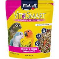 Vitakraft VitaSmart Complete Nutrition Parrot & Conure Food, 4-lb bag