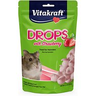 Vitakraft Drops with Strawberry Hamster Treats, 5.3-oz bag