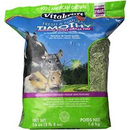 Vitakraft Timothy Sweet Grass Hay Small Animal Food, 56-oz bag