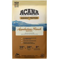 ACANA Appalachian Ranch Regional Formula Grain-Free Dry Dog Food, 25-lb bag